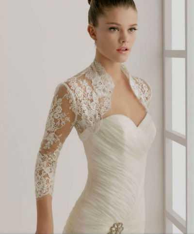 32e42e0345c Кружевное болеро для свадебного наряда не должно выбиваться из общего тона  платья
