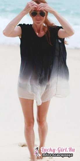 20231f6a10581 В настоящее время туники часто шьют или покупают для пляжа. Пляжные туники  сшить очень просто, нужно сделать всего лишь 2 шва. Обычно шьют туники  прямого и ...